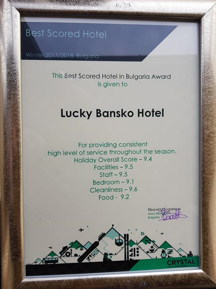 Nagrada TUI za Lucky Bansko | Lucky Bansko