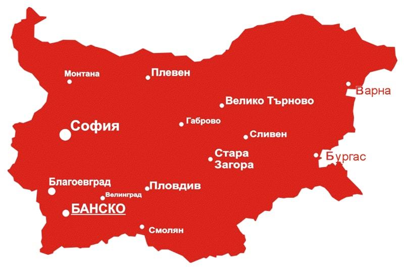 mapa banskog