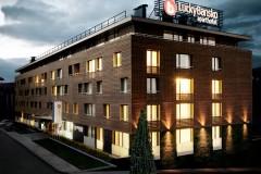 Apart-hotel Lucky Bansko SPA & Relax |  Fasada hotela u sumrak