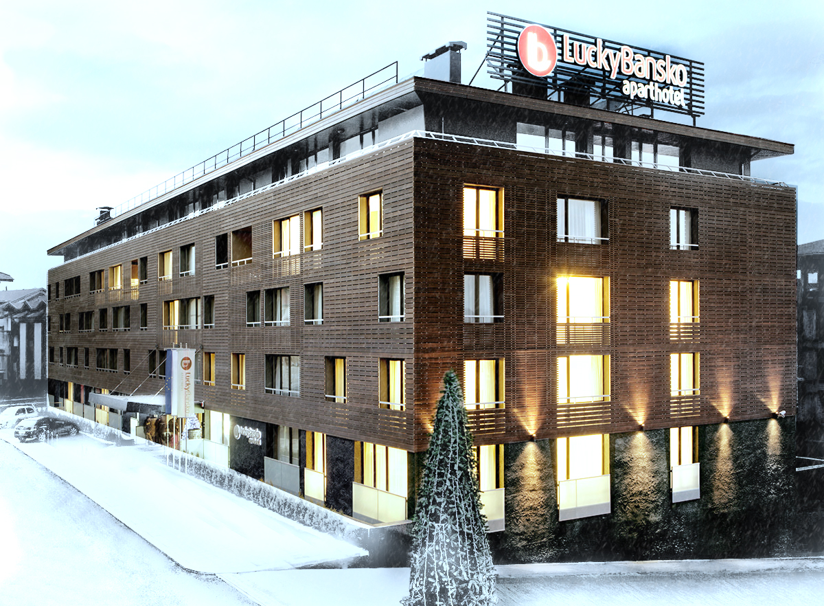 Ski hotel fasada   Lucky Bansko SPA & Relax