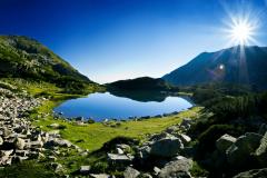 Jezero na planini Pirin