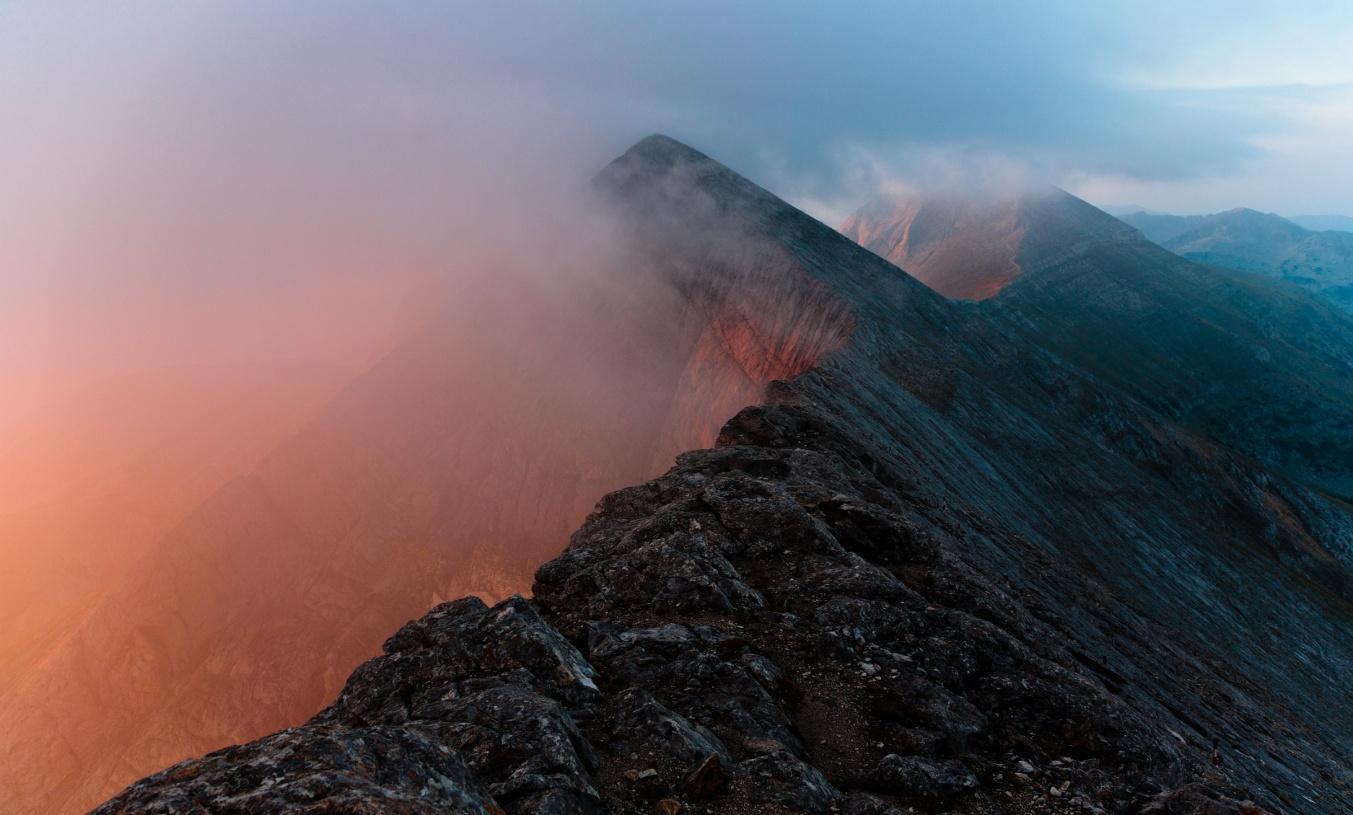 Strme kosine do vrha Vihren Lucki Bansko